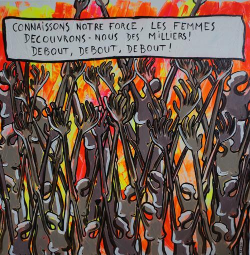 Des Milliers by l'artiste peintre contemporain Delphine Dessein