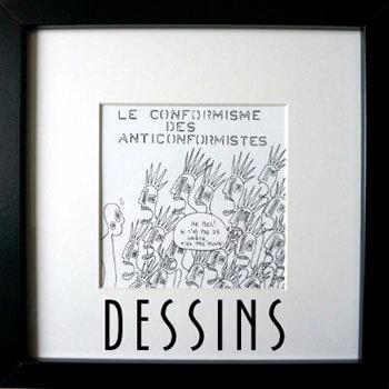 Dessins néofiguratifs de l'artiste contemporain Delphine Dessein
