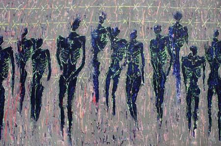 En attendant la liberté par l'artiste peintre Delphine Dessein