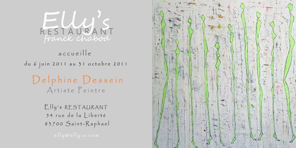 Individual exhibition in Elly's Restaurant by Delphine Dessein
