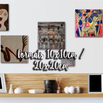 Peintures Formats 10x10cm / 20x20cm | Artiste peintre contemporain Delphine Dessein