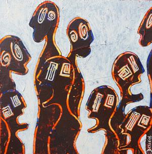 """""""nématoïdes"""" peinture contemporaine par l'artiste peintre contemporain delphine dessein"""