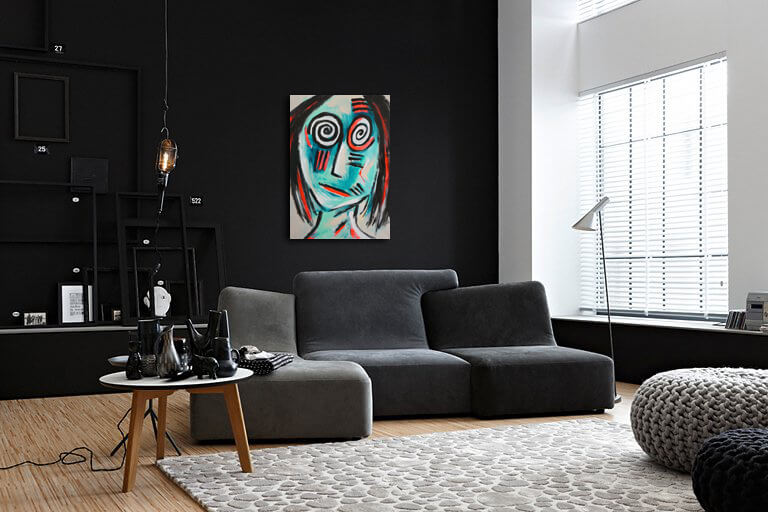 Acheter le tableau Inadapté de l'artiste peintre contemporain dessein, Artiste contemporain Nord Var