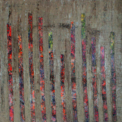 Libération. Artiste peintre contemporain. Delphine Dessein. Peinture Abstraite contemporaine