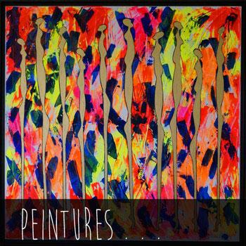 Peintures fluos de l'artiste contemporaine Delphine DESSEIN. Peintures abstraites, néo-figuratives, peintures modernes fluos, peintures contemporaines...
