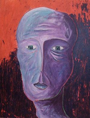 Portrait. Artiste peintre contemporain Delphine Dessein