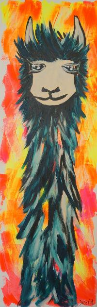 Rimpoché by l'artiste peintre contemporain Delphine Dessein