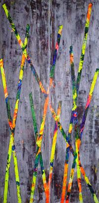 Syncrétisme. Artiste peintre contemporain Delphine Dessein